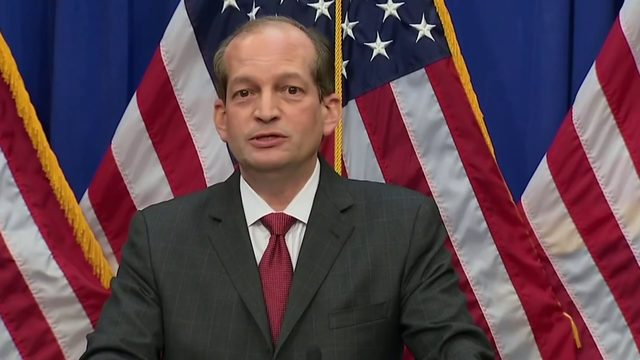 Amid calls for resignation, Acosta defends Epstein deal