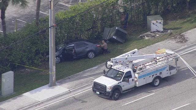Teenage boy in stolen car crashes during chase in Kendall