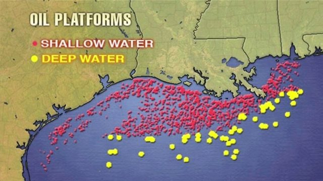 Storm affects oil platforms in Gulf of Mexico