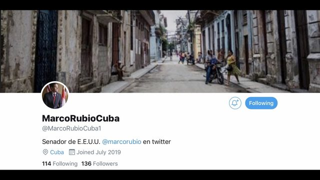By way of Twitter, Senator Rubio wants direct access to Cubans on the island