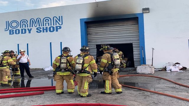 Warehouse unoccupied when fire breaks out, authorities say