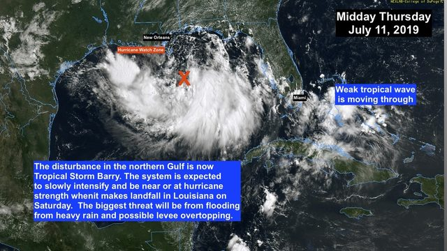 Tropical Storm Barry develops in Gulf of Mexico