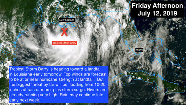 Tropical Storm Barry packs 'tremendous' amount of moisture