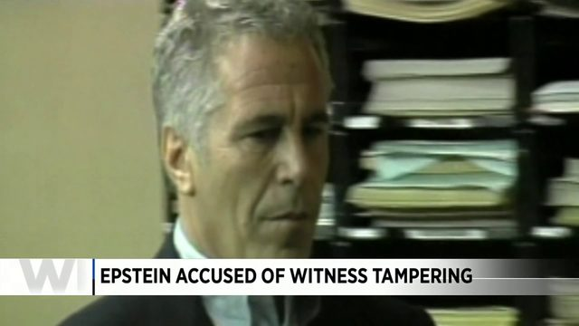 Epstein accused of witness tampering