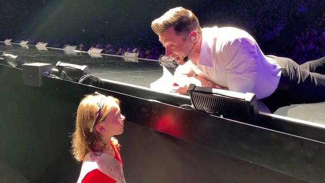 Hugh Jackman makes local girl's birthday wish come true
