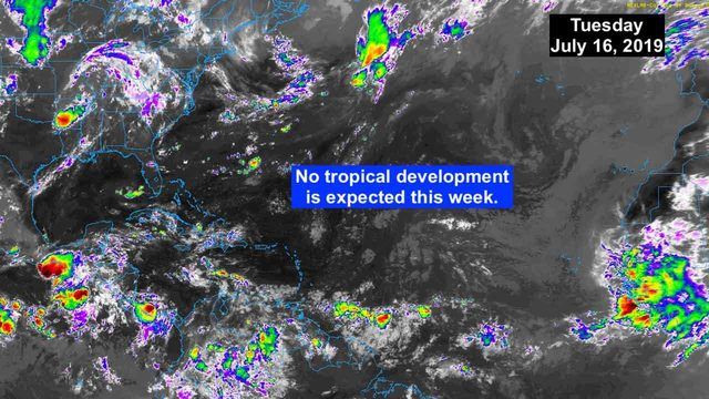No tropical development expected this week