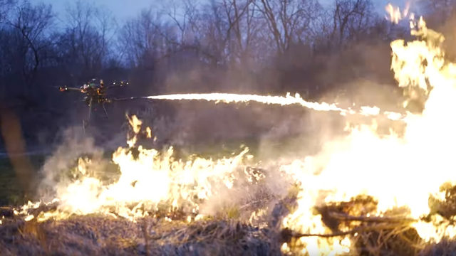 Flame-throwing drone sounds like a bad idea, but it's real