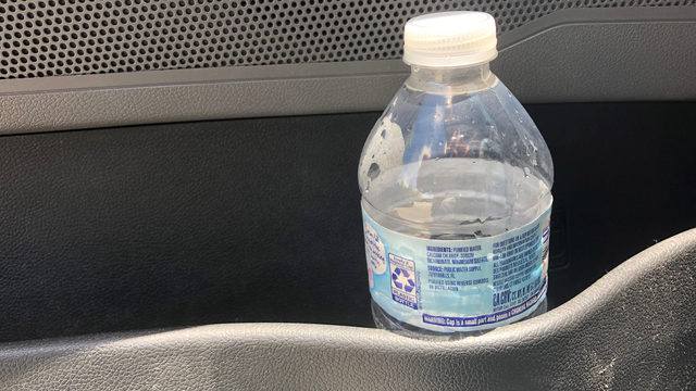 Plastic water bottle left in vehicle could start fire in minutes