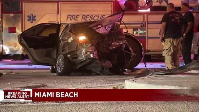 Fatal crash shuts down westbound lanes of MacArthur Causeway