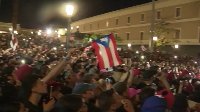 Protesters take to streets as Puerto Ricans call on governor to resign