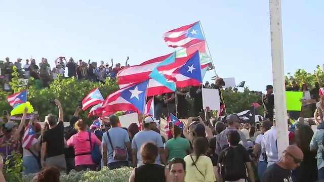 Puerto Rico protests expected to continue Thursday as police stand guard…