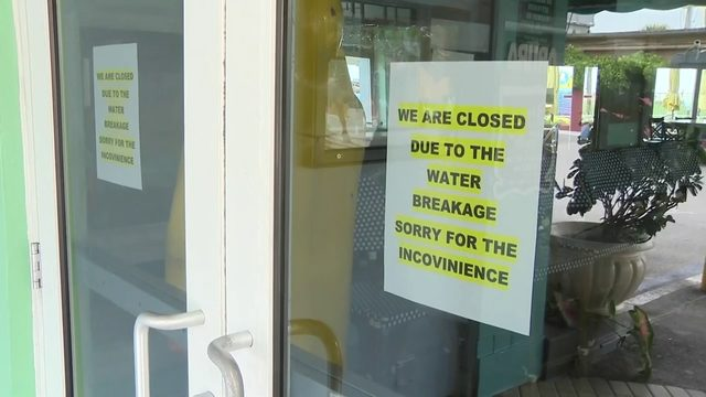 Some businesses close early following water main break