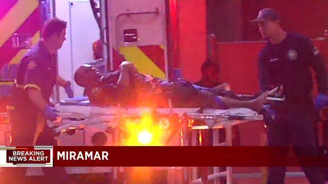 Miramar police officer injured, taken to hospital