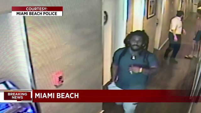 Surveillance video shows man believed to have raped woman in Miami Beach