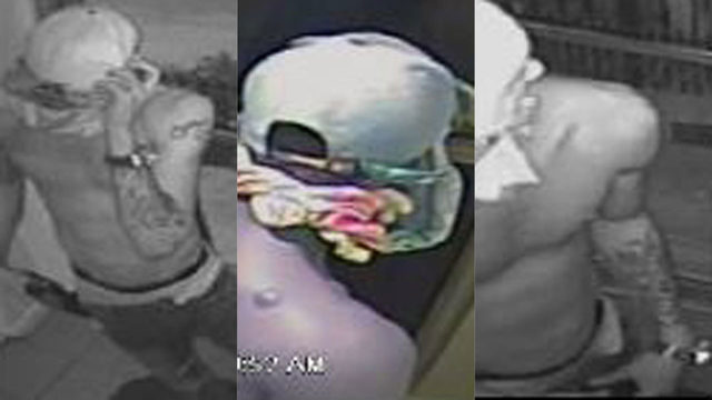 Shirtless suspect with back scar, tattoos wanted in burglary in Hollywood