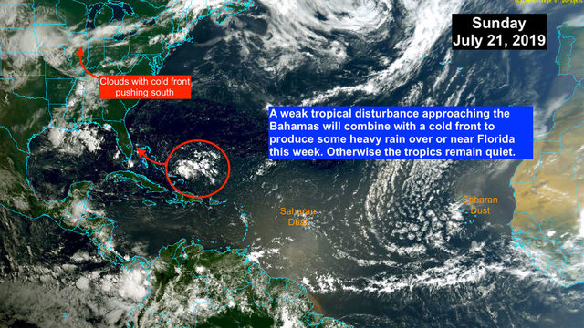 Tropical disturbance to bring heavy rain this week