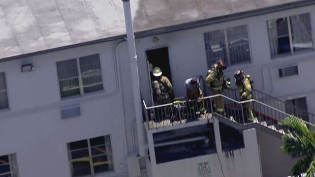 3 people treated after fire reported at Miami Springs hotel
