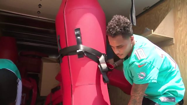 Baptist Health, Miami Dolphins help Edison football players
