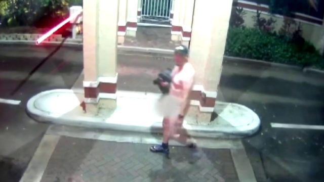 Naked man caught on camera masturbating outside guard house of Pembroke…