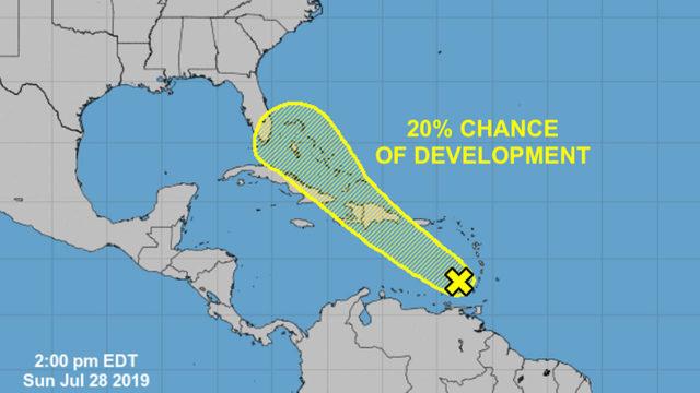 Tropical disturbance moisture to impact South Florida Friday
