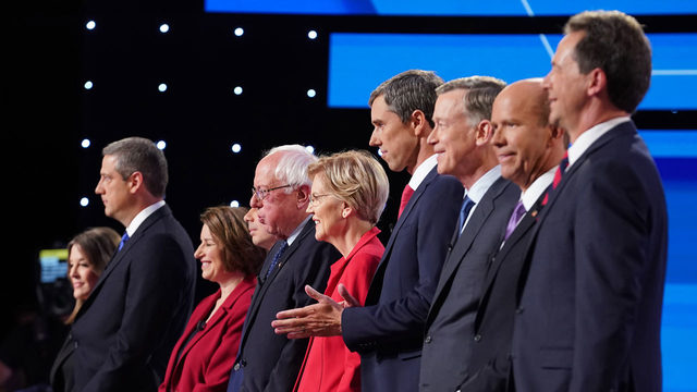 Democrats' liberal wing takes center stage at 2020 debate