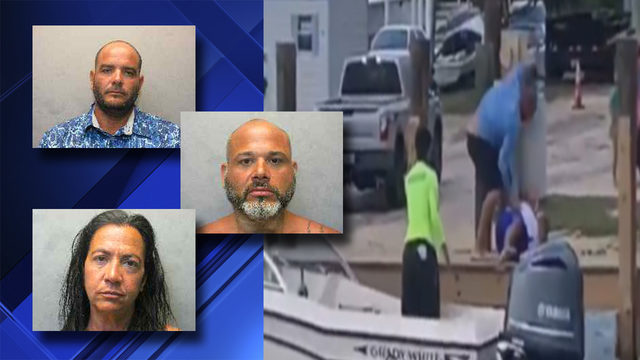 VIDEO: 3 arrested after vicious fight on Key Largo dock