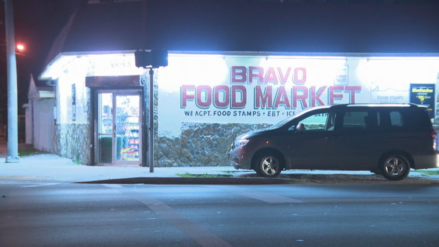 Man breaks in through roof of Bravo Food Market