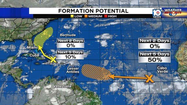 As weak tropical disturbance moves closer to Florida, another…