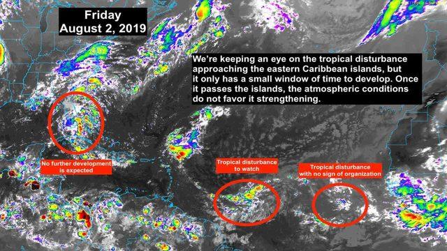 Tropical disturbance approaching Caribbean islands