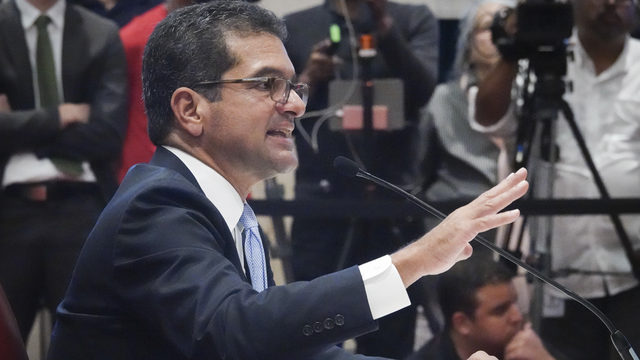 Puerto Rico Gov. Rossello says he is resigning, will swear in Pierluisi