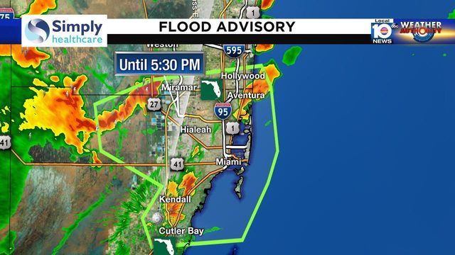Severe thunderstorm warning in effect for northern Broward County
