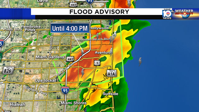 Flood advisory issued for northern Miami-Dade, southern Broward