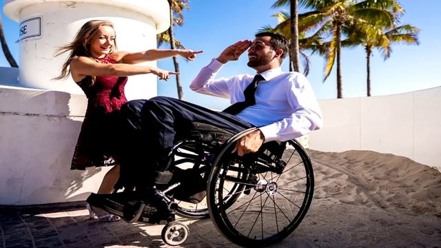 Wheelchair user struck by lightning remains unconscious before wedding
