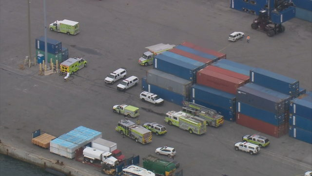 Firefighters deal with hazardous chemical leak at Port of Miami
