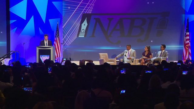 Candidates speak at national convention of black journalists in South Florida
