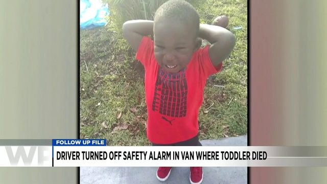 Driver turned off safety alarm in van where toddler died, investigators say