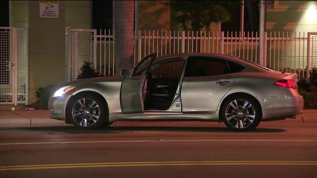 Man shot, drives away in bullet-riddled car