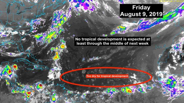 Tropics remain quiet, which isn't unusual this time of year