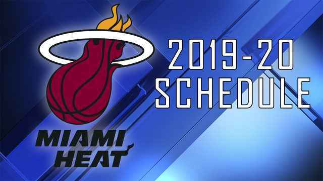 Heat release 2019-20 NBA schedule