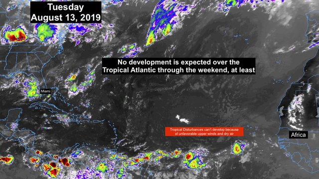 Tropics remain quiet, no development expected this week