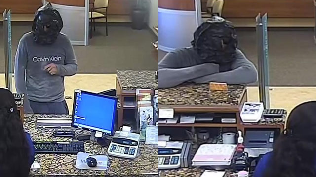 Robber with plastic bag over head targets Wilton Manors bank