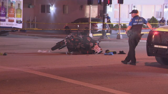 Motorcyclist dies after collision with trolley in Miami Beach