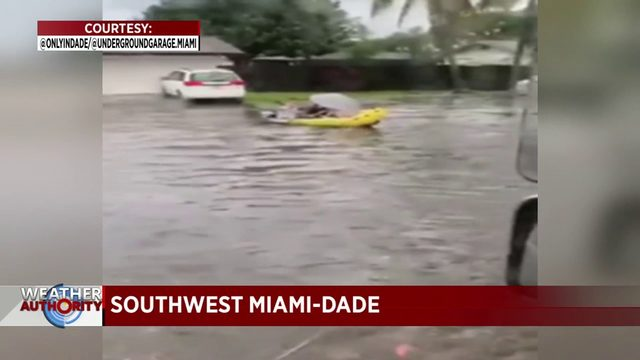 Major flooding reported in southwest Miami-Dade