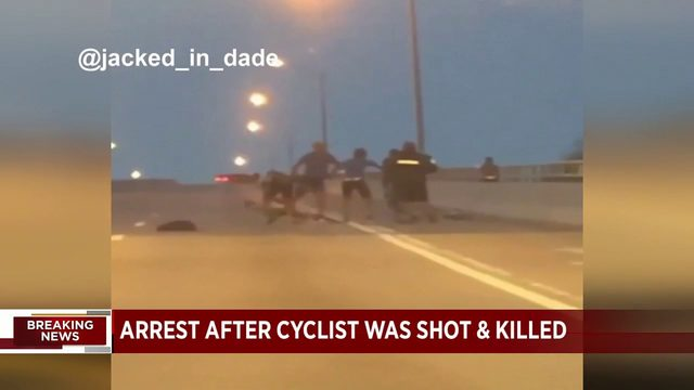 Arrest made after bicyclist shot to death