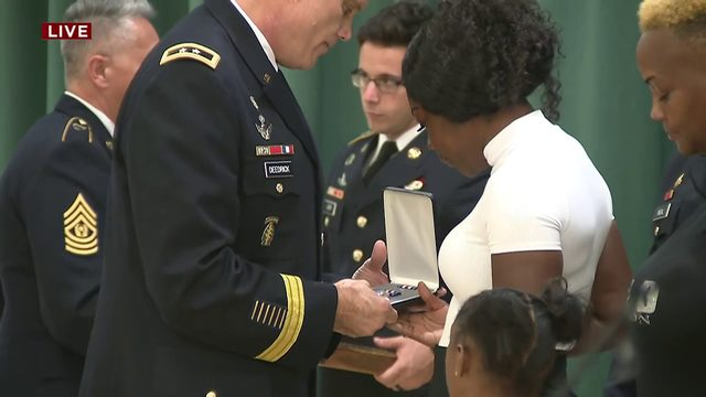 US Army Sgt. La David Johnson posthumously awarded Silver Star Medal