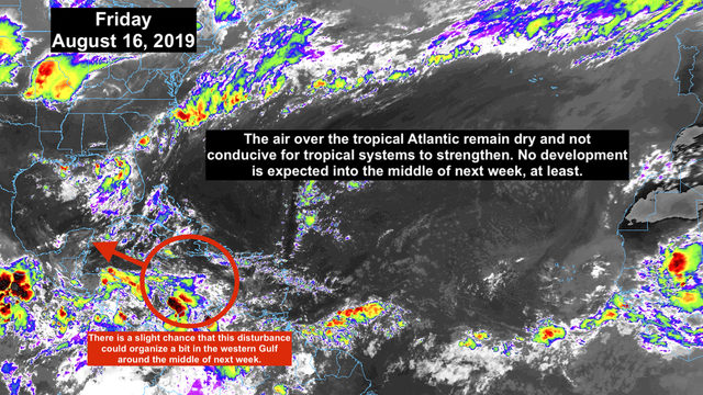 Tropical development remains 'weird' for August