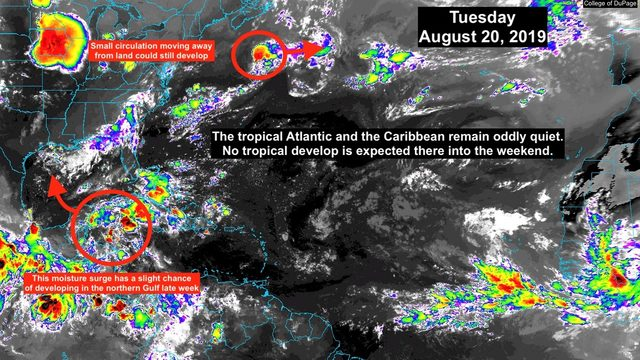 Unusually quiet August continues in Tropics