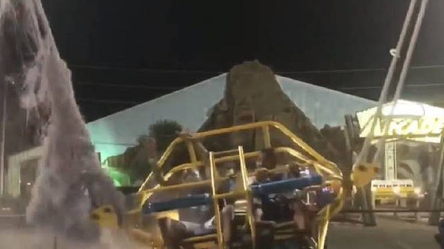 VIDEO: Bungee cord shreds on slingshot ride at Florida amusement park