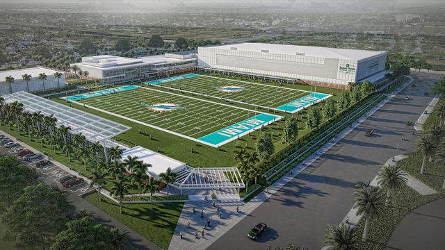 Miami Dolphins break ground on new training complex