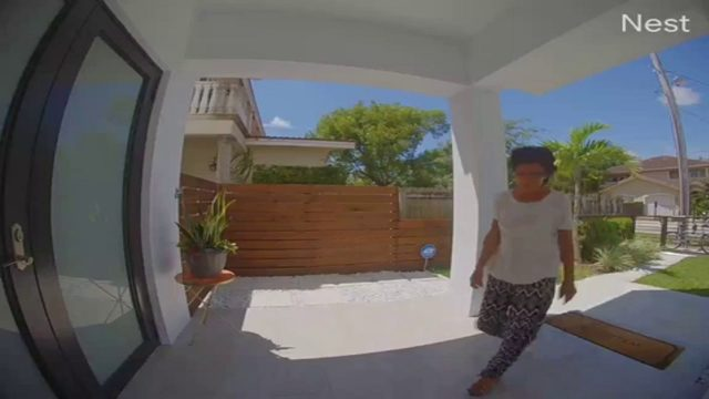 Woman caught on camera stealing package from Miami home